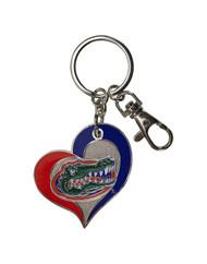 University of Florida Swirl Heart Keychain