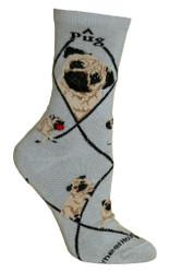 Shih Tzu Dog Blue Cotton Ladies Socks