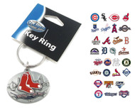 MLB Sculpted Oval Keychain - Choose Your Team