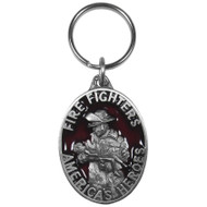 American Fire Fighter Pewter Keychain