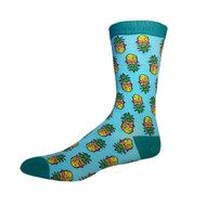 Retro Pineapple One Size Fits Most Crew Socks