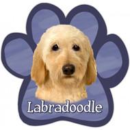 Basset Hound Paw Print Magnet