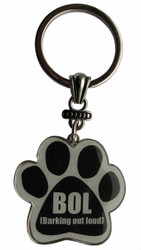 BOL (Barking out loud) Paw Print Keychain