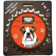 I Love my American Bulldog Magnetic Bottle Opener