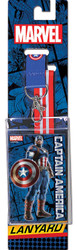 Marvel ComicsCaptain America Reversible Lanyard with Breakaway Clip and ID Holder