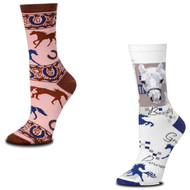 Bundle 2 Items: Pink Horse and Pixel Horse Medium Socks