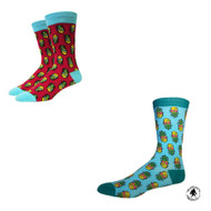 Bundle 2 Items: Retro Pineapple One Size Fits Most Crew Socks