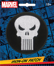Punisher Skull Full Color Iron-On Patch