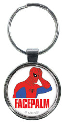Spiderman 60s Facepalm Keychain