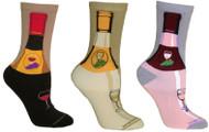 Wine Bottle Ladies Socks (2 Pairs)