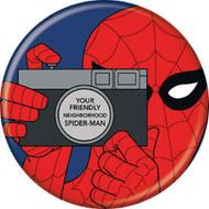 """Spider-Man Spidey 1960s Camera 1.25"""" Pinback Button"""