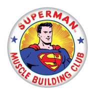"DC Comics Superman Muscle Building Club 1.25"" Pinback Button"