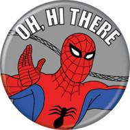 """Spider-Man Spidey 1960s Hi There 1.25"""" Pinback Button"""