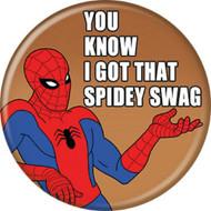 """Spider-Man Spidey 1960s Spidey Swag 1.25"""" Pinback Button"""