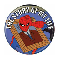 """Spider-Man Spidey 1960s Story of Life 1.25"""" Pinback Button"""