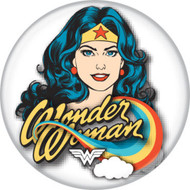 "DC Comics Wonder Woman on White 1.25"" Pinback Button"