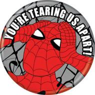 """Spider-Man Spidey 1960s Tearing Apart 1.25"""" Pinback Button"""