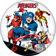 "Marvel Comics 1980s Avengers #4 Cover 1.25"" Pinback Button"