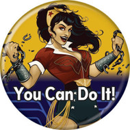 "DC Comics Wonder Woman Bombshell She Can Do It 1.25"" Pinback Button"