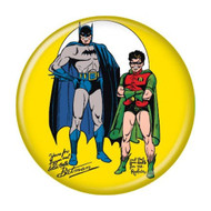 "DC Comics Batman and Robin Retro Yellow 1.25"" Pinback Button"