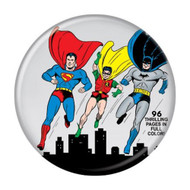 "DC Comics Superman Batman Robin World's Best # 1 Cover 1.25"" Pinback Button"