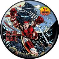 "Marvel Comics 1980s Elektra #1 Variant Cover 1.25"" Pinback Button"