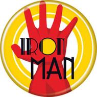 """Marvel Comics Iron Man Name and Glove 1.25"""" Pinback Button"""