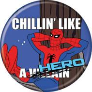 """Spider-Man Spidey 1960s Chillin Like Hero 1.25"""" Pinback Button"""