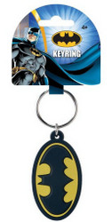 Batman Logo Soft Touch PVC Keychain
