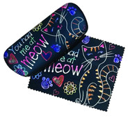 You had me at meow Eyeglass Case and Cleaner