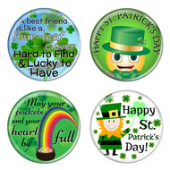 "Saint Patrick's Day 1.5"" Pinback Buttons - 4 Pack"