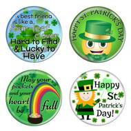 "Saint Patrick's Day 1.5"" Diameter Refrigerator Magnets - 4 Pack"