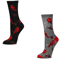 Bundle 2 Items: Cardinals on Gray and on Black Medium Socks