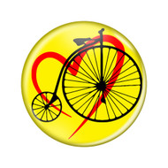"Love Cycling Penny Farthing Lavender 1.5"" Pinback Buttons"