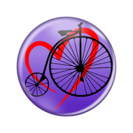 """Love Cycling Penny Farthing Lavender 1.5"""" Pinback Buttons"""
