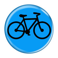 "Bike Silhouette Cycling Biking 1.5"" Pinback Buttons"