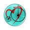 Love Cycling Biking Penny Farthing Refrigerator Magnets