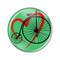 "Love Cycling Biking Penny Farthing Periwinkle 1.5"" Refrigerator Magnet Bike"
