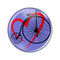 "Love Cycling Biking Penny Farthing Turquoise 1.5"" Refrigerator Magnet Bike"