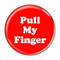 """Pull My Finger Fart Yellow 2.25"""" Refrigerator Magnet"""