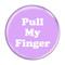 """Pull My Finger Fart Magenta 2.25"""" Refrigerator Magnet"""