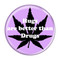 "Hugs are better than Drugs Lavender 1.5"" Refrigerator Magnet"