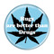 "Hugs are better than Drugs Sky Blue 1.5"" Refrigerator Magnet"