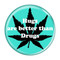 "Hugs are better than Drugs Turquoise 1.5"" Refrigerator Magnet"