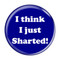 """I Think I Just Sharted! Fart Yellow 2.25"""" Refrigerator Magnet"""
