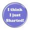 """I Think I Just Sharted! Fart Red 2.25"""" Refrigerator Magnet"""