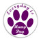 """Everyday is Hump Day Dog Paw Print Yellow 1.5"""" Refrigerator Magnet"""