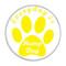 "Everyday is Hump Day Dog Paw Print Aqua 1.5"" Refrigerator Magnet"