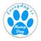 "Everyday is Hump Day Dog Paw Print Dark Blue 1.5"" Refrigerator Magnet"