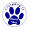 """Everyday is Hump Day Dog Paw Print Magenta 1.5"""" Refrigerator Magnet"""